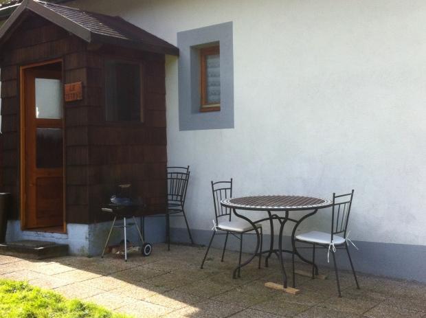 Terrasse privé au meublé