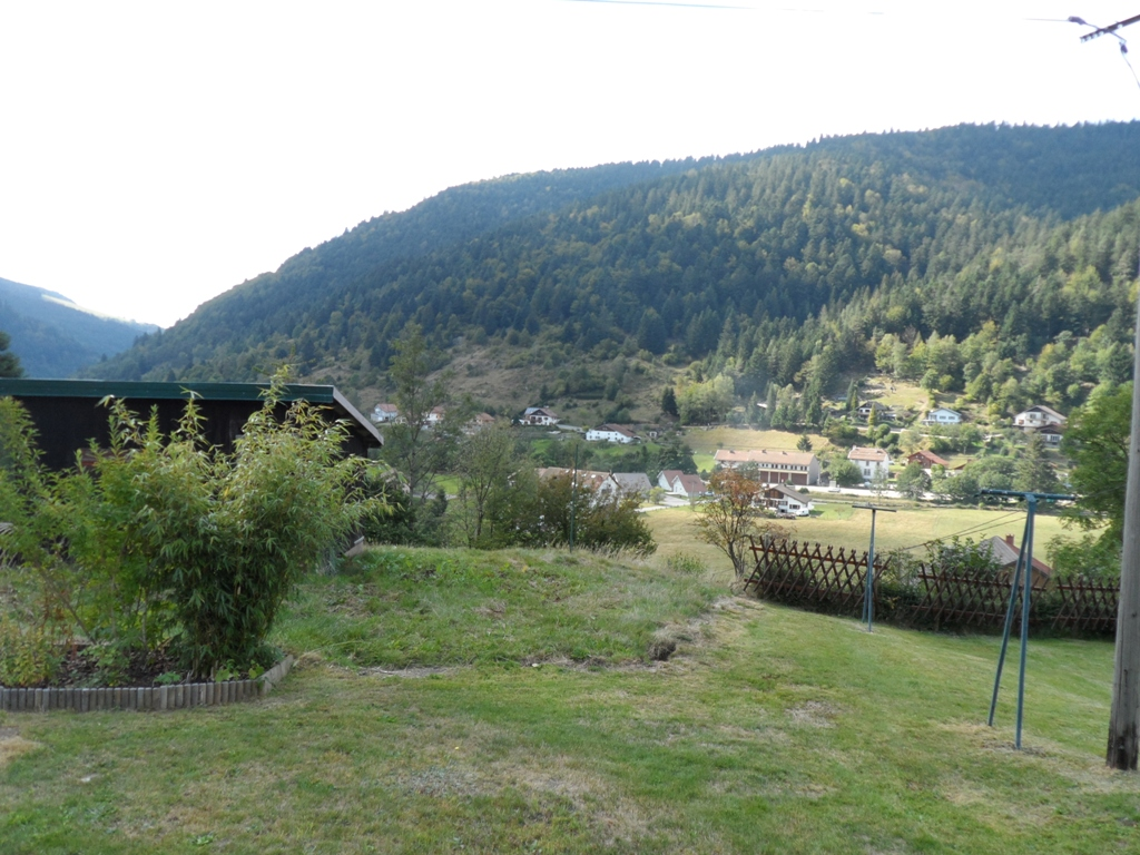 Vue sur la vallée du jardin commun
